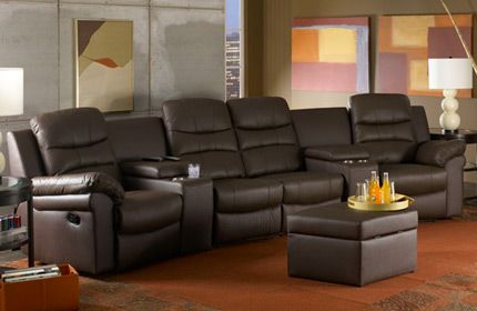 The Seatcraft Genesis Sectional Is Fashioned From Top Grain Leather And Can Be Configured With Wide Storage Wedges