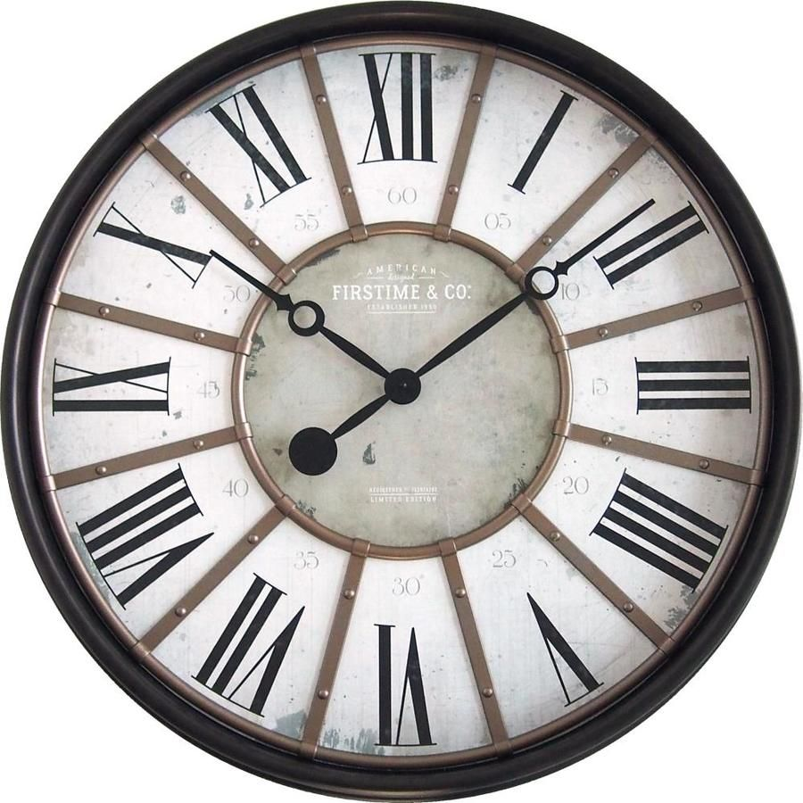 Firstime Firstime And Co Roman Bronze Wall Clock Lowes Com Large Rustic Wall Clock Wall Clock Oversized Wall Clock