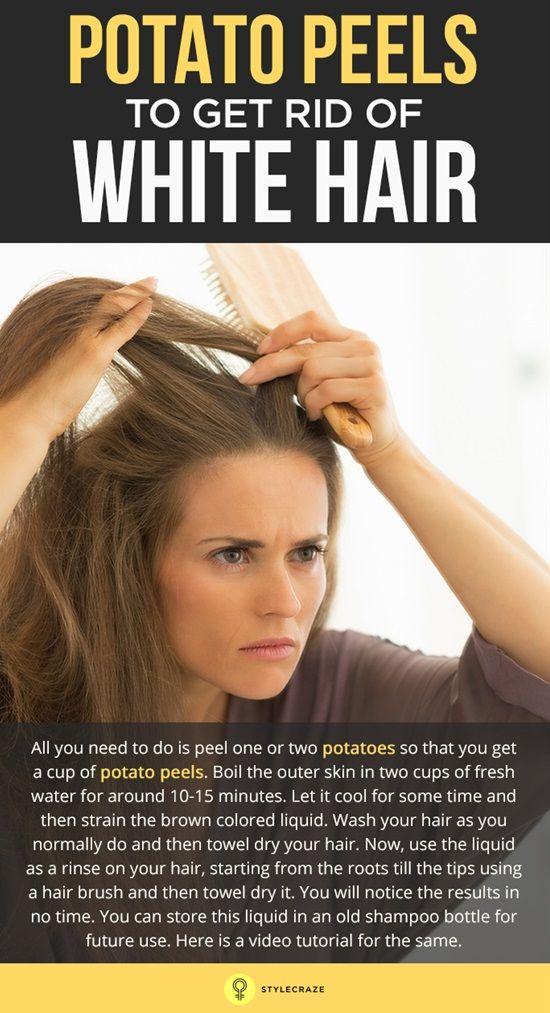 Potato Peels To Get Rid Of White Hair