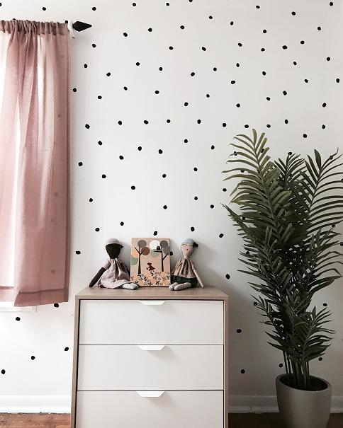 Irregular Dots Girls room wallpaper, Wall coverings