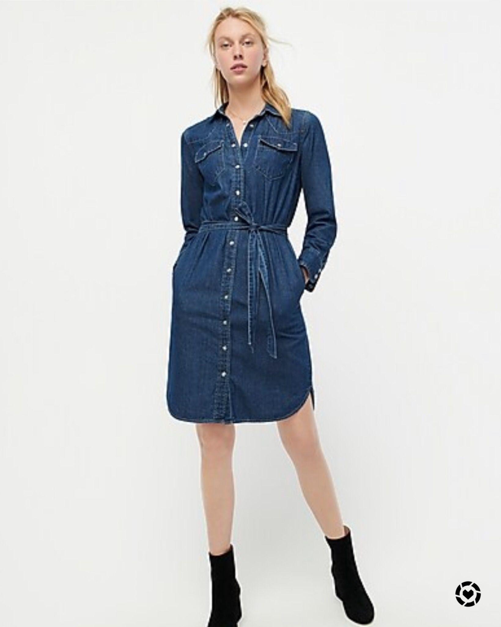 jcrewsale | Fashion, Denim shirt dress, Shirt dress