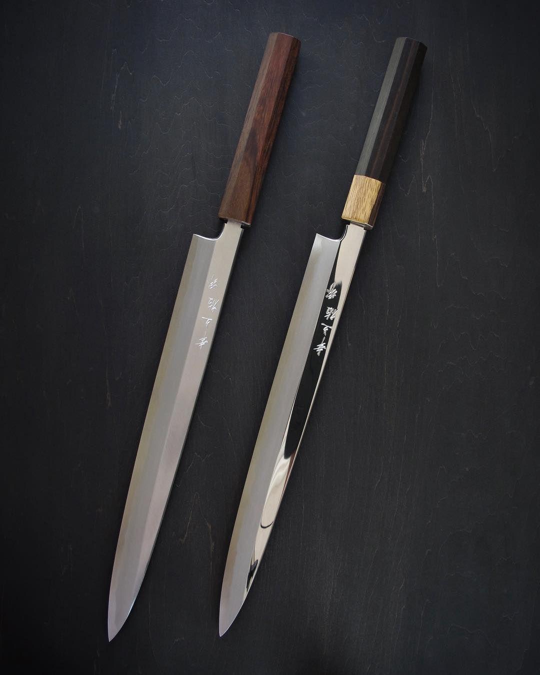 marko tsourkan gyutos cutlery pinterest knives and kitchen fujiyama series yanagiba with khii ebony and rosewood handles kitchen kniveshandle