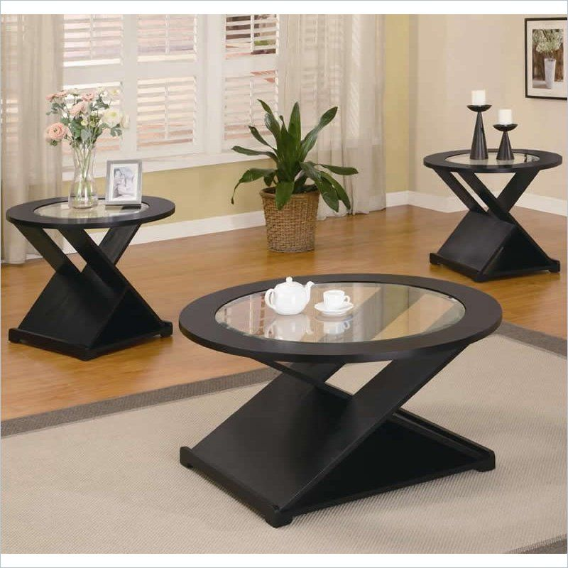 3 Piece Occasional Table Sets Contemporary Round