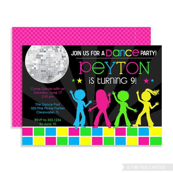 disco invitations dance party disco party invitations dance