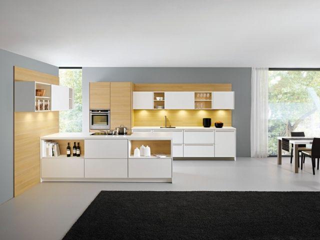 moderne küchengestaltung schränke regalsystem kochinsel