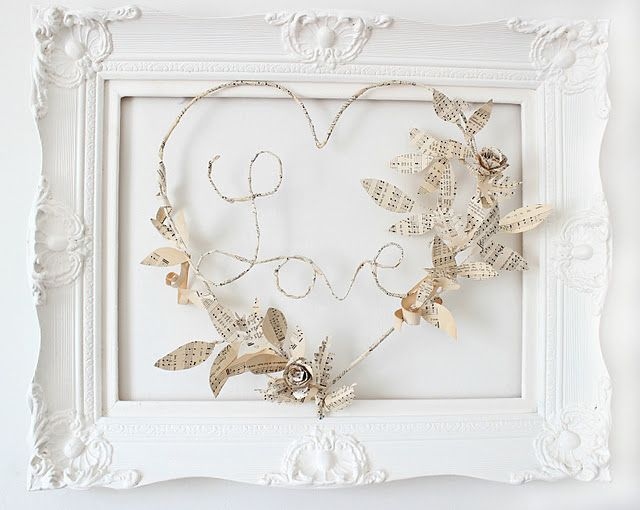 framed wire Love
