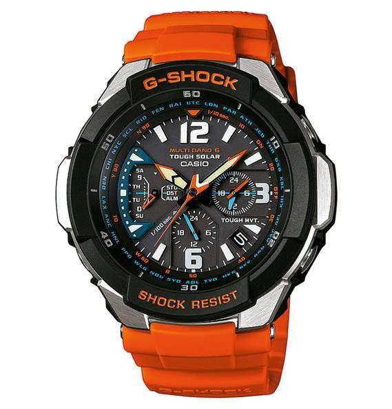 Casio G Shock Herrenuhr Chronograph Funk Solar Gw 3000m 4aer Casio G Shock Watches G Shock Watches Radio Controlled Watches
