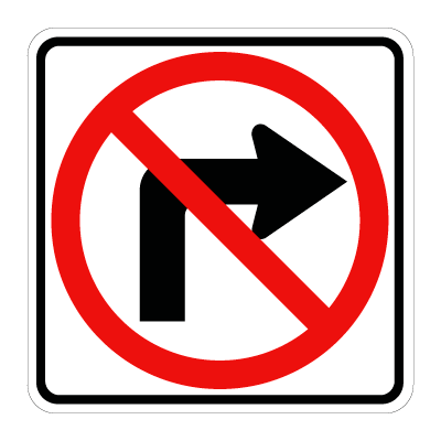 No Turn To Right Signs Road Signs Traffic Signs