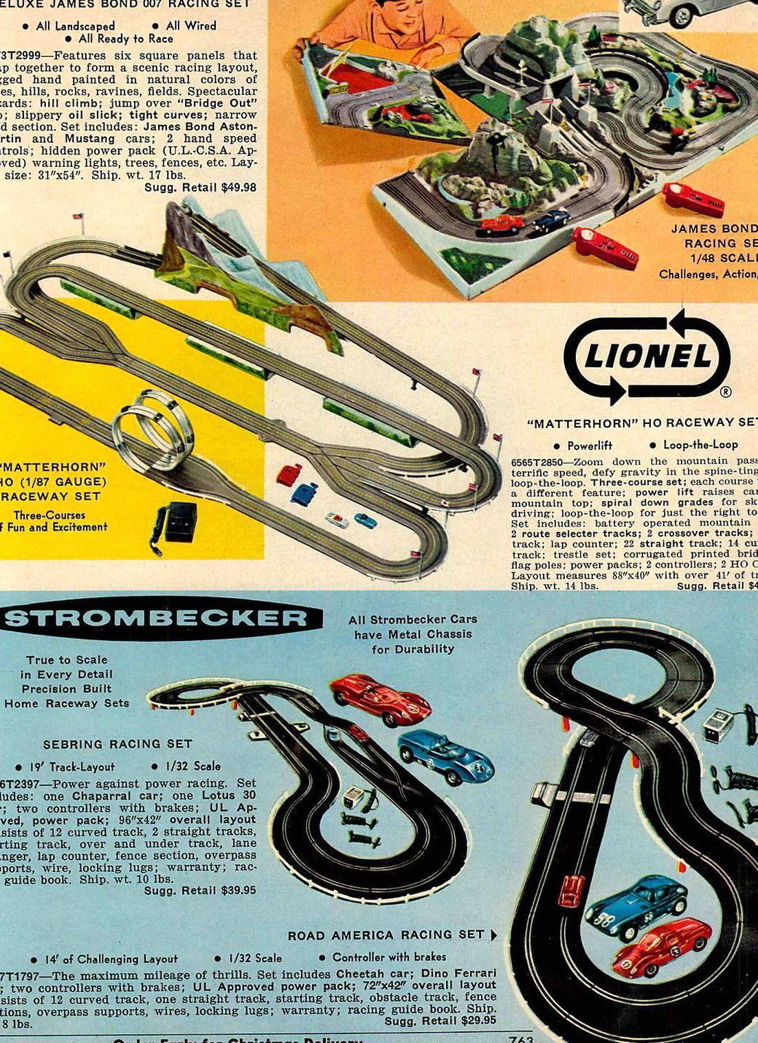 1967 Advert Gilbert James Bond 007 Lionel Strombecker Race Car Raceway Toy Sets Ebay James Bond Slot Cars Strombecker
