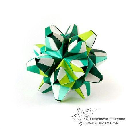 Photo of Kusudama-Origami-Würfel