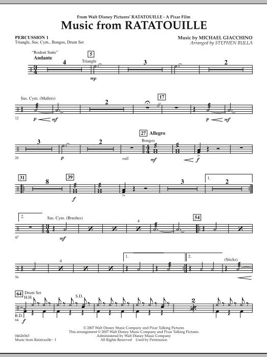 Stephen Bulla Music From Ratatouille Percussion 1 Sheet Music Notes Chords Sheet Music Notes Music Notes Sheet Music