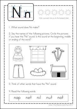 phonics letter of the week n children 39 s literature phonics letter of the week kindergarten. Black Bedroom Furniture Sets. Home Design Ideas