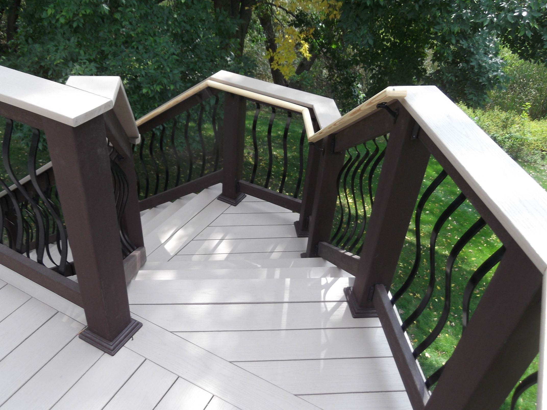 Totally Fresh Trex Decking Colors For Patio Ideas: Cool Trex Decking Colors With Deck Railings Design For Patio Ideas