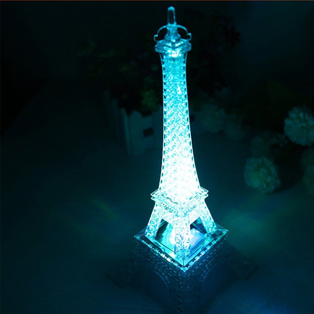 Colorful Eiffel Tower Nightlight Paris Style Decoration Led Lamp Fashion Desk Bedroom Acrylic Light Home Decor Accessories The Stories Of Wall