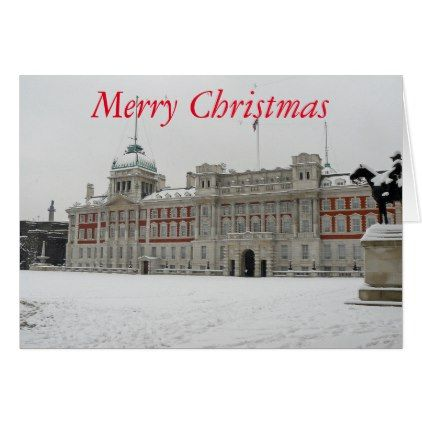 Horseguards Parade London blank Christmas card - merry christmas diy