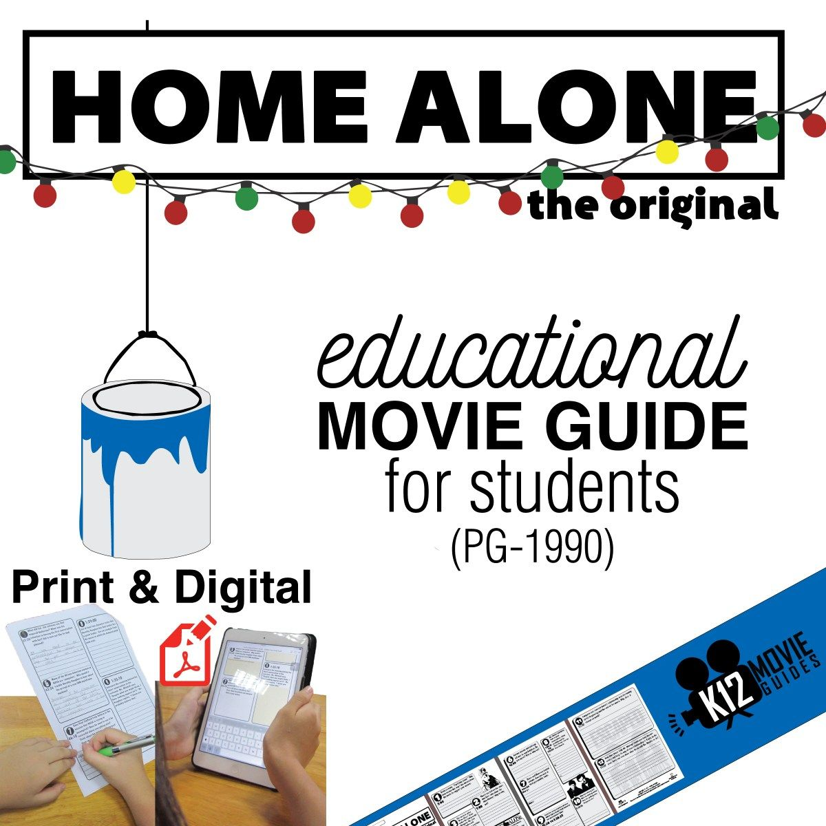 Home Alone Movie Guide Questions Worksheet Pg