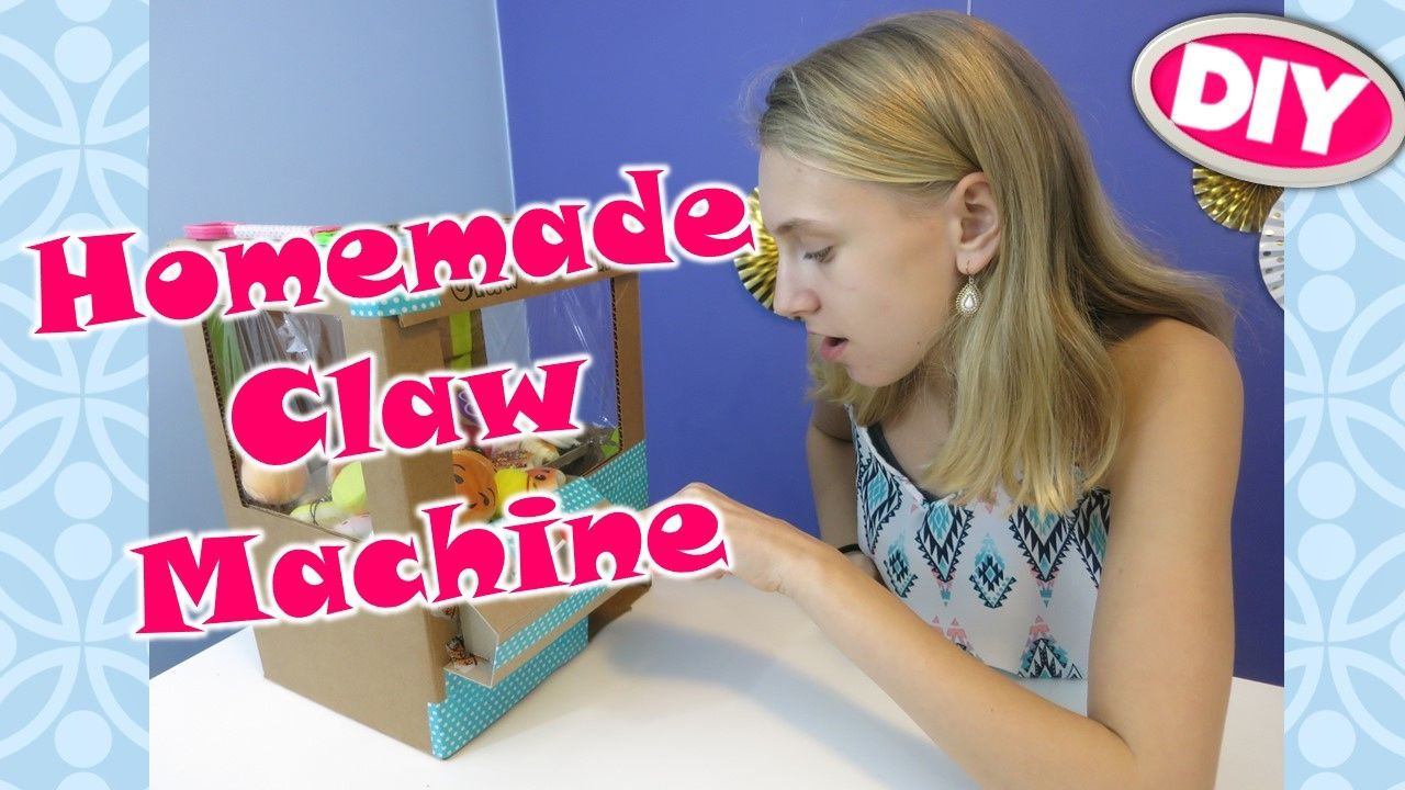 DIY CLAW MACHINE for SQUISHY PRIZES / HOMEMADE / BEST EVER