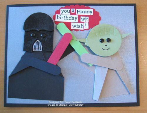Star Wars Birthday Card So Many Other Good Ideas Simple Birthday Cards Birthday Cards Birthday Stamps
