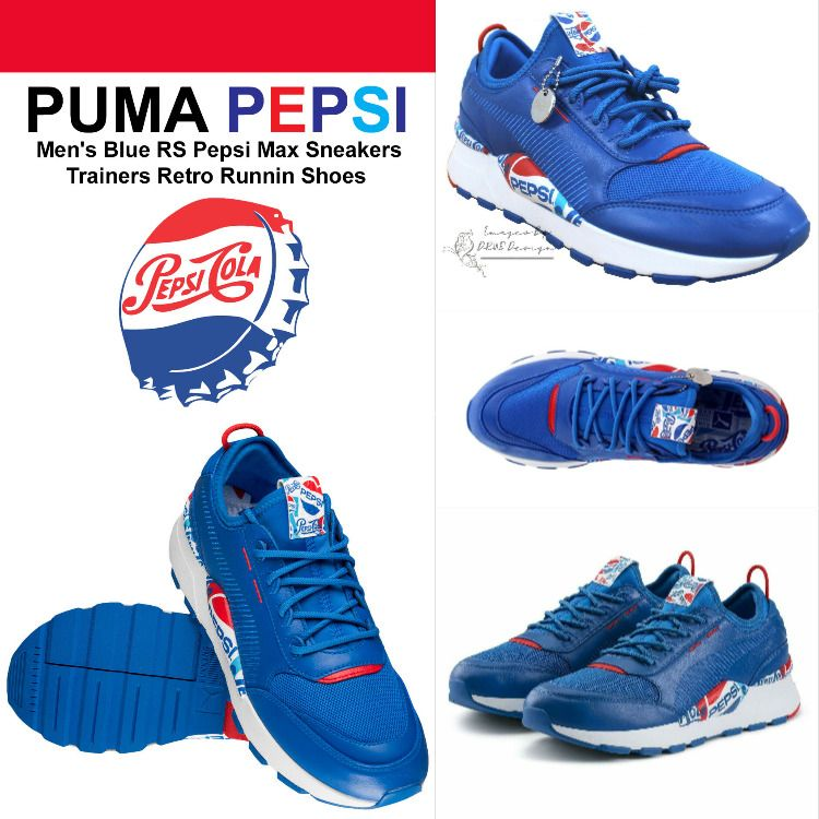 Retro running shoes, Mens blue trainers