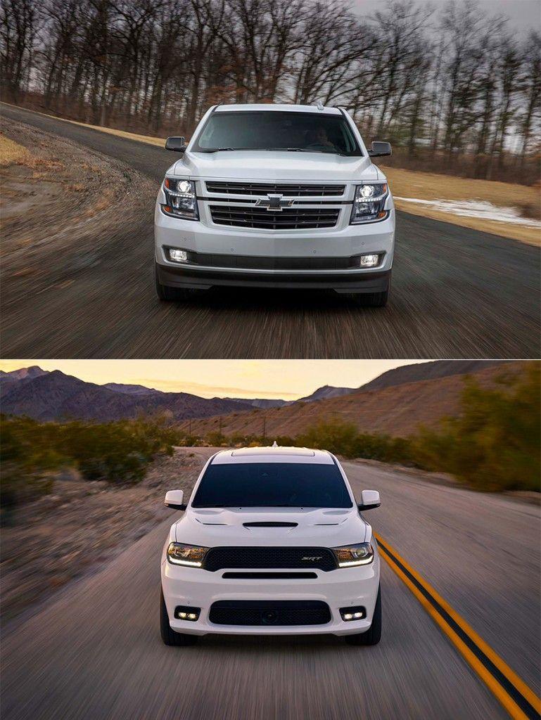 Head To Head 2018 Dodge Durango Srt V Chevy Tahoe Rst Chevy