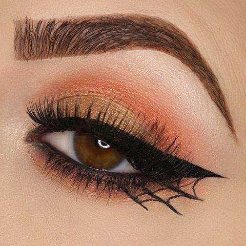 Halloween makeup, Halloween spiderweb eyeliner tutorial, halloween makeup videos