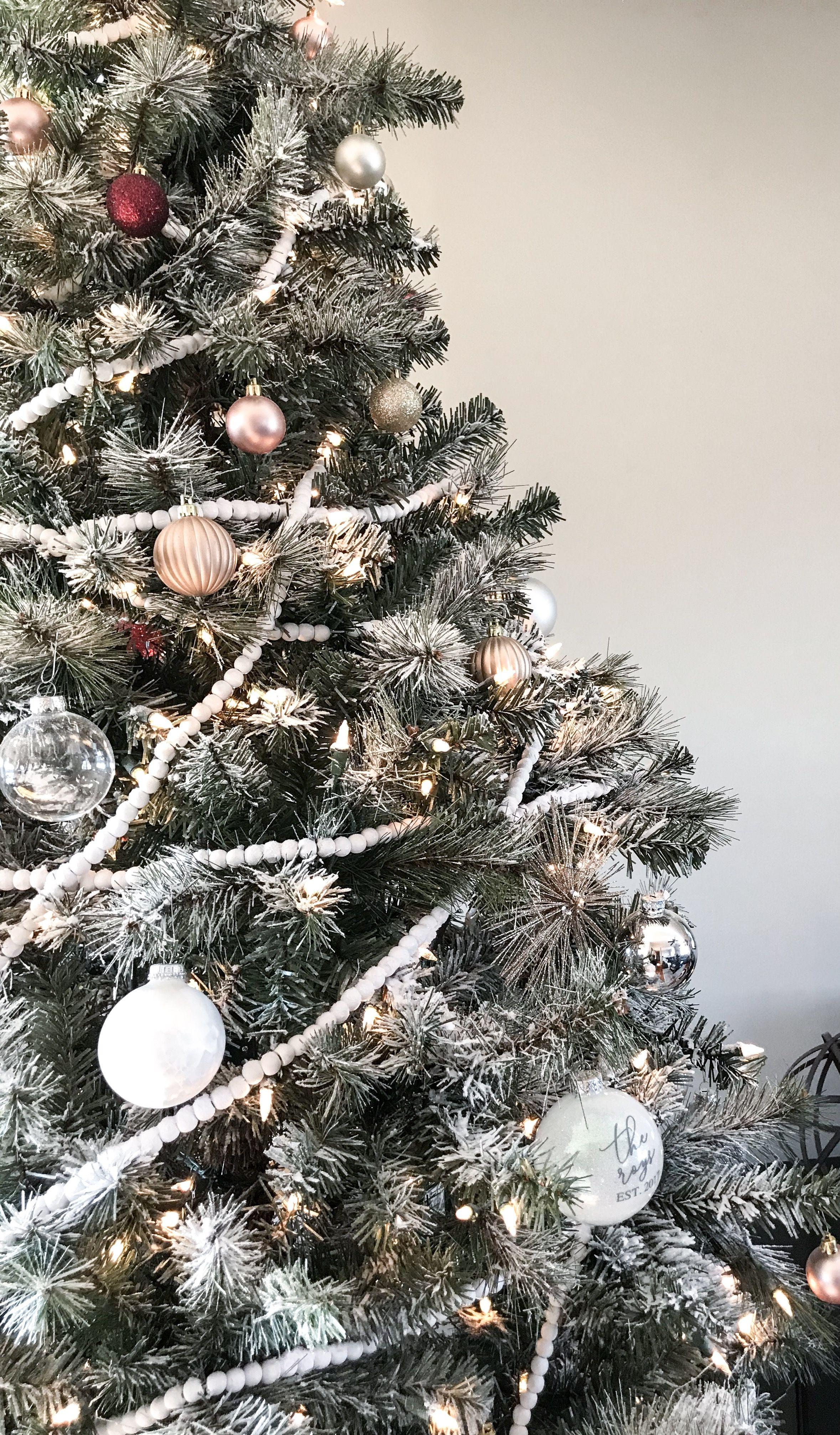 DIY flocked christmas tree Flocked christmas trees