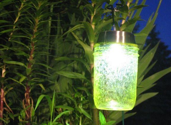 Mod Podge mason jar solar lights