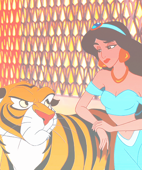 Jasmine and rajah have a better relationship than her and aladdin disney pinterest - Tigre de jasmine ...
