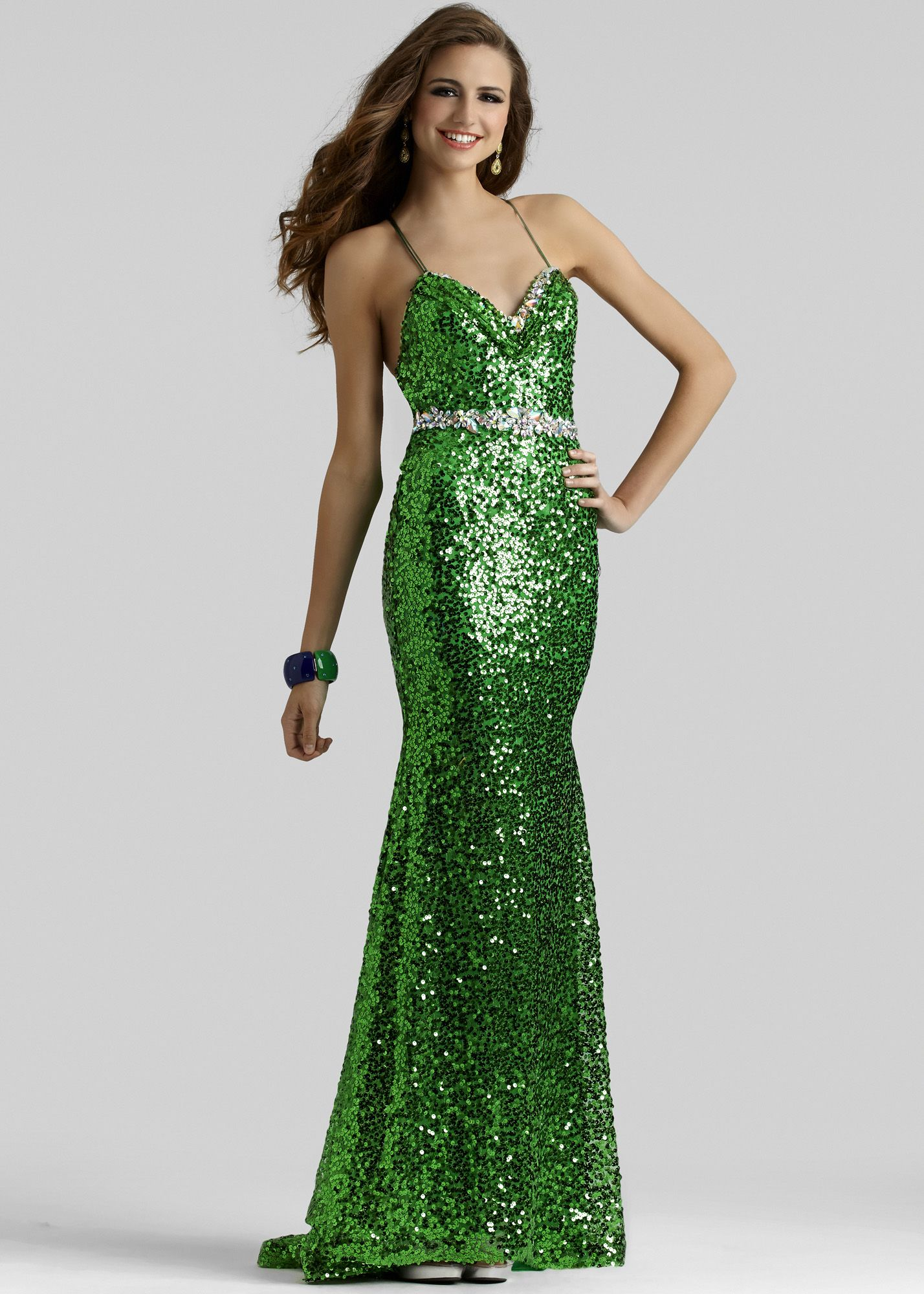 Clarisse emerald one shoulder prom dress thanks