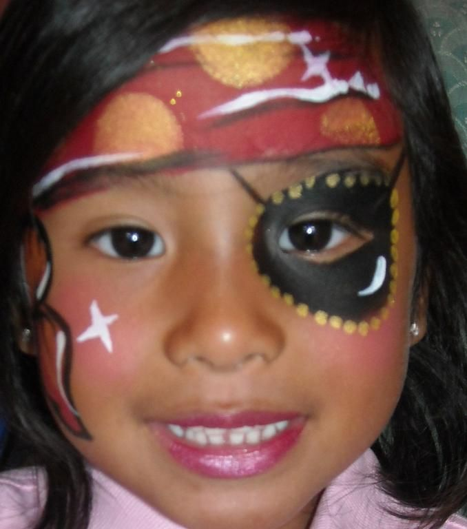 pirate princess face painting provided by amazing face. Black Bedroom Furniture Sets. Home Design Ideas
