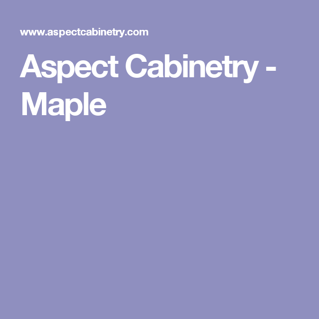 Best Aspect Cabinetry Maple New Homes 400 x 300