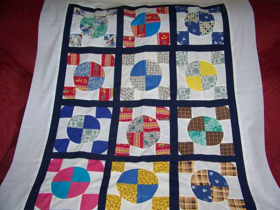 Quilt 1930's Vintage Blocks  Wallhanging by TjsComfortQuilts, $60.00