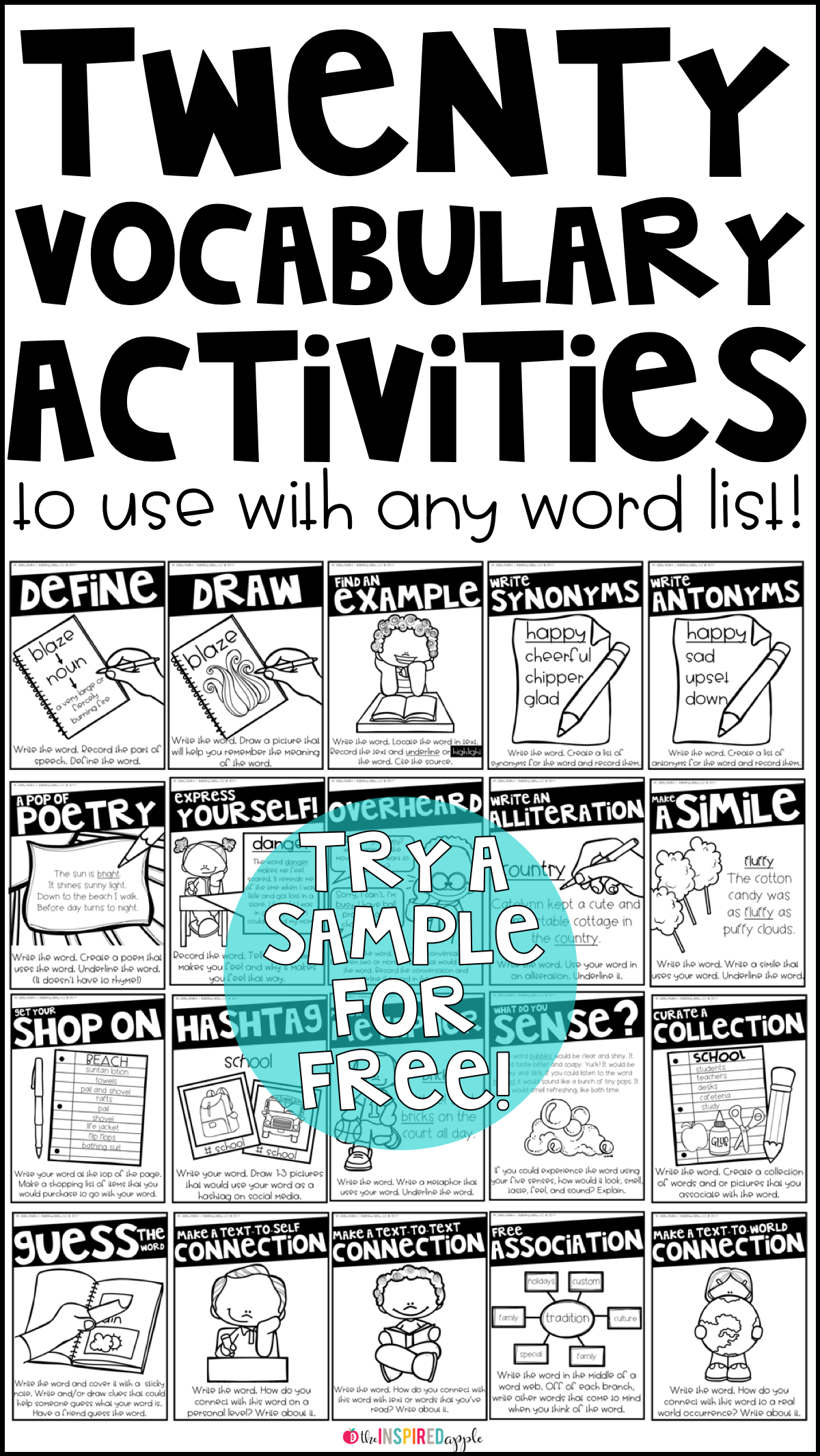Vocabulary activities for any word vocabulary words preschool