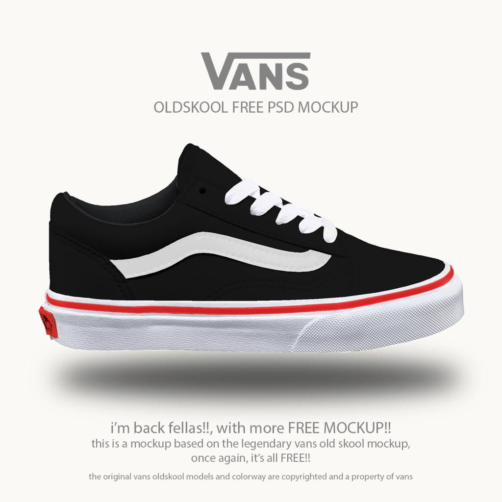 Download Vans Old School Shoes Free Psd Mockup Desain