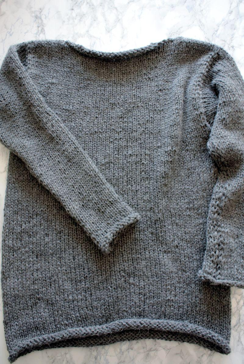 Photo of • Wolle & Garn • einfacher Langarmpullover aus Alpakawolle stricken