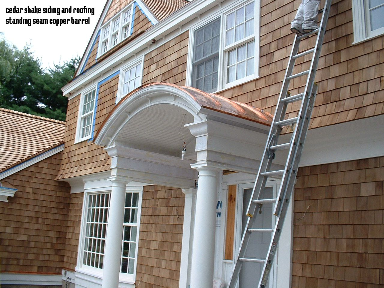 Copper Barrel Roof Cedar Shingle Cedar Siding