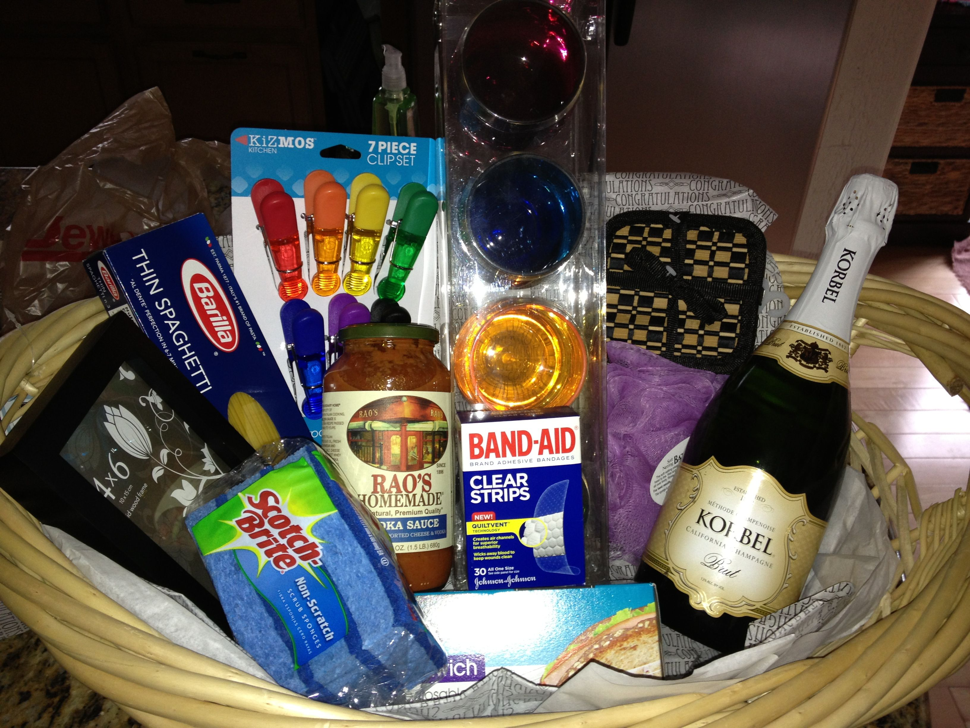 Cute Little House Warming Basket For New Home Owners. An