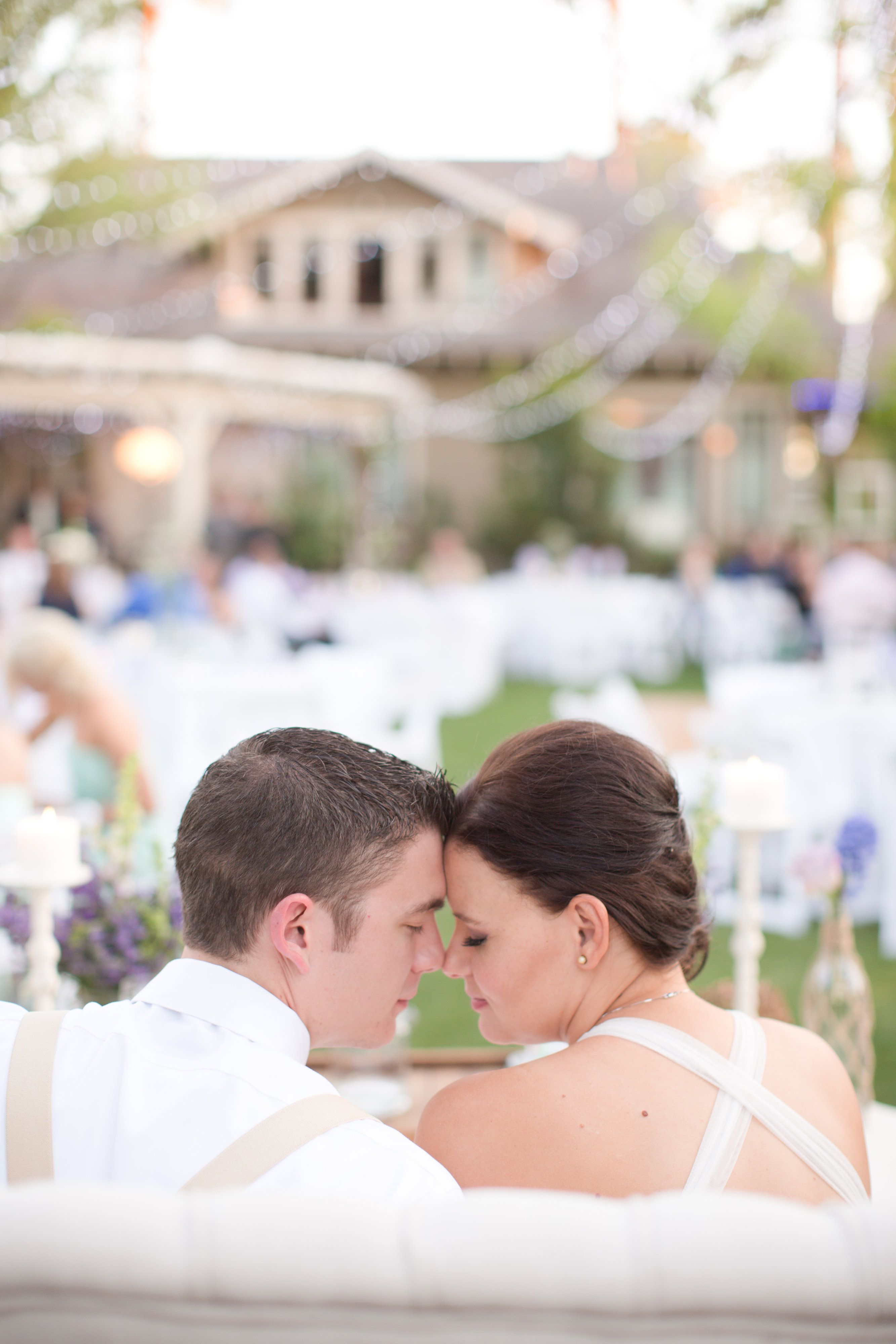 A perfect mint green & lavender  backyard wedding at the historic Hearn House.