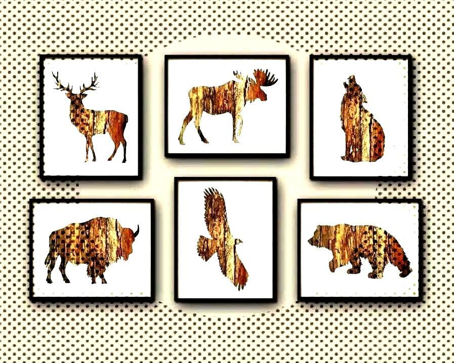 Cabin Wall Art Print Set of 6  DRustic Cabin Wall Art PrYou can find Hunting and more
