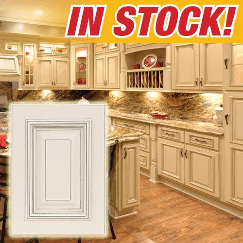 Discontinued Kitchen Cabinets: Heritage White With Dark Glaze Kitchen Cabinets. Our Most