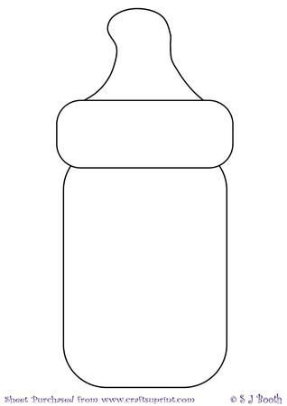 Baby Bottle Template on Craftsuprint designed by Sally Booth - Baby ...