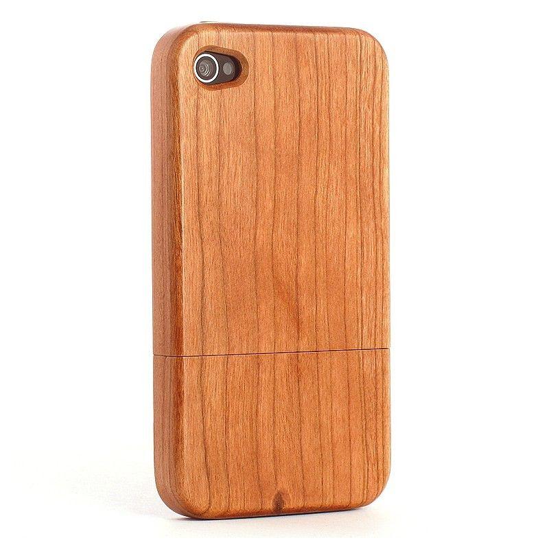 Coque iPhone 4S en bois Naturel Merisier vue générale2 | Coque en ...