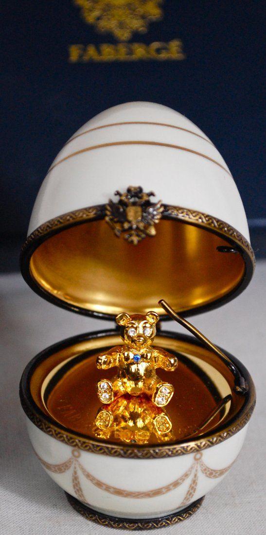 Vintage Faberge porcelain white egg
