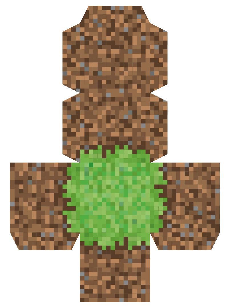 Printable Minecraft Grass Block Minecraft Minecraft Tree Minecraft Food