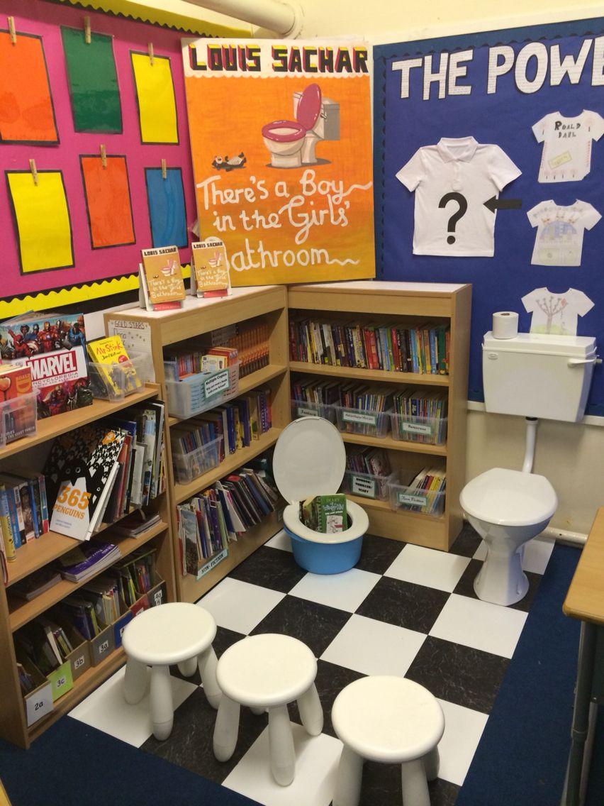 Classroom Ideas Yr 6 ~ There s a boy in the girls bathroom book corner ks