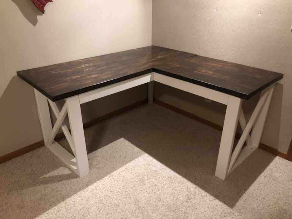 Modified L Shaped Desk Ana White In 2020 Diy Desk Plans Diy Corner Desk L Shaped Desk
