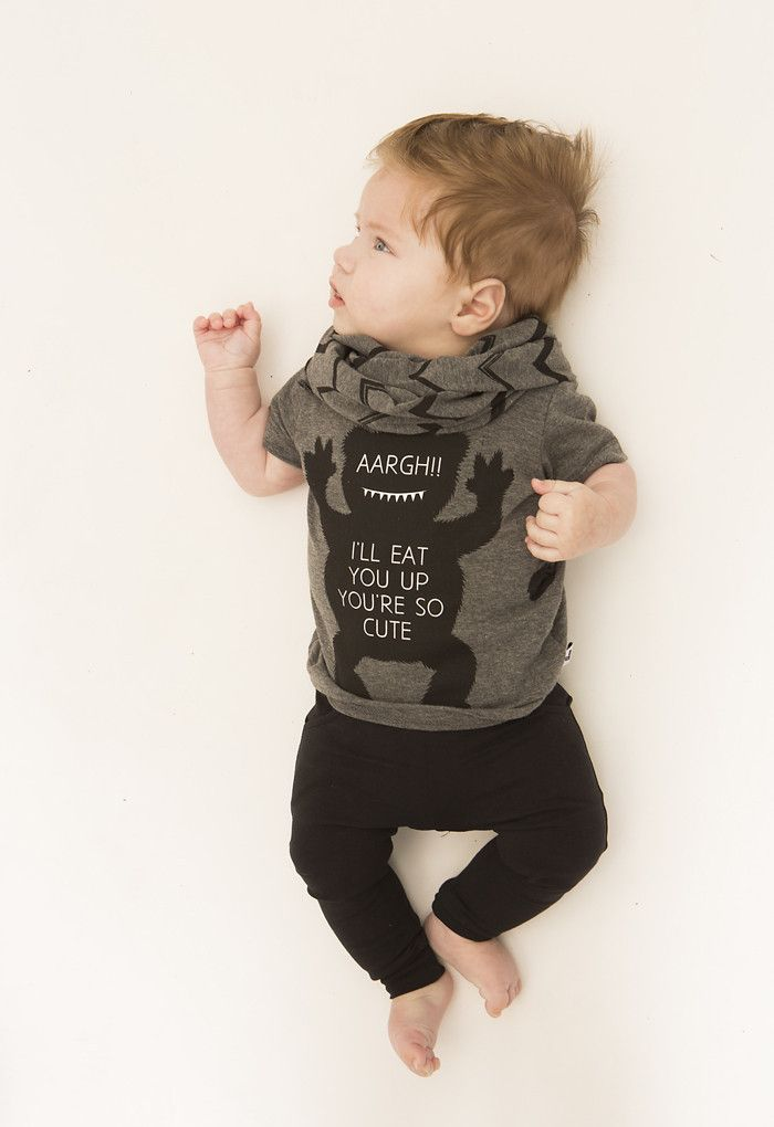 84ba04a86530 Lucky No. 7  Little Black Baggy pants and Monster tee - baby fashion ...