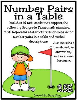 Number Pairs in a Table (TEKS 3.5E) STAAR Practice   3rd ...