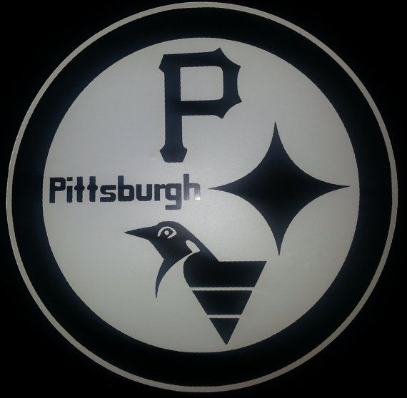 16fd677fdb7f Pittsburgh Sports Decal (Steelers, Pirates and Penguins) | Vinyl ...