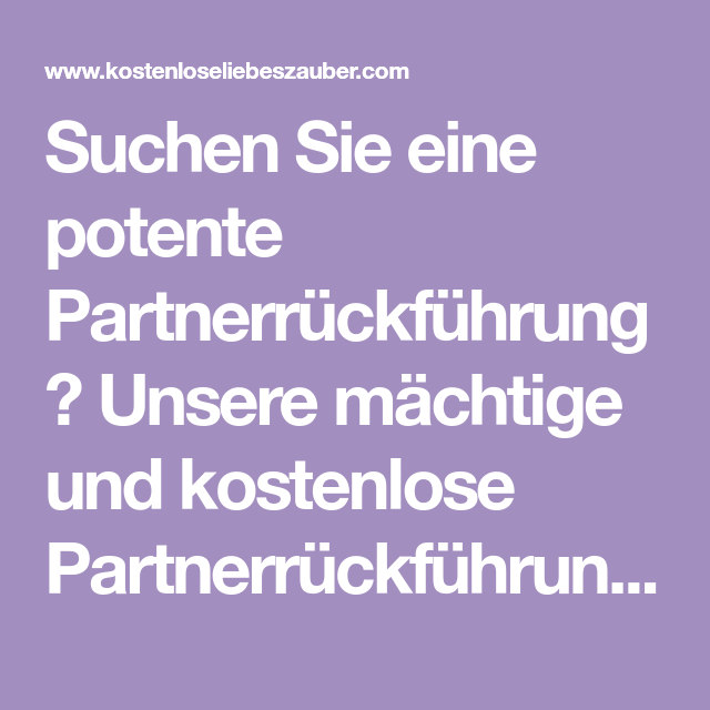 Partnerrückführung erfolg